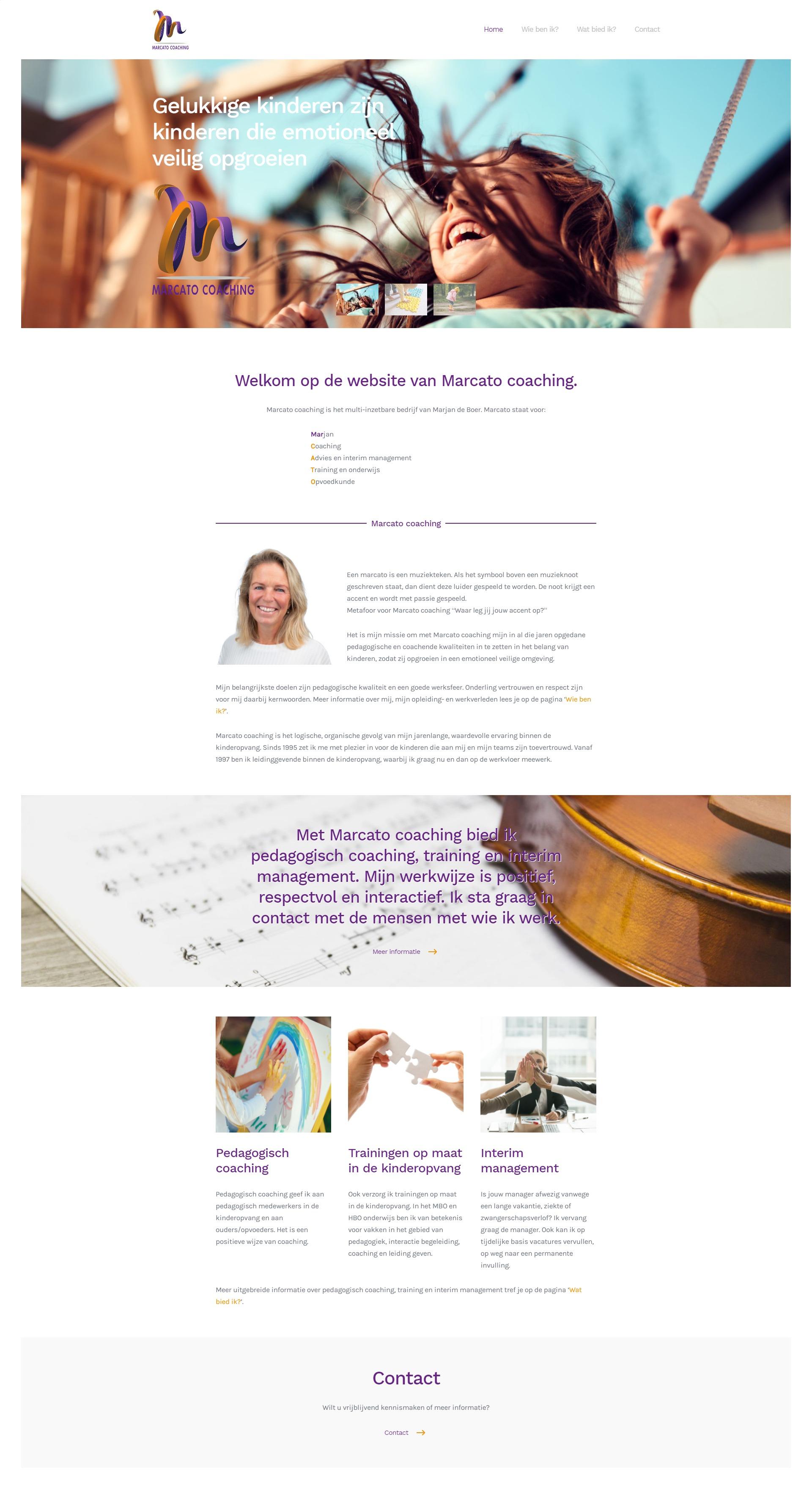 Logo, huisstijl en website Marcato Coaching