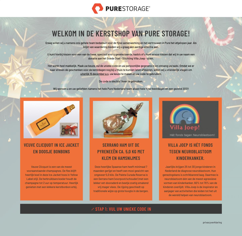 Kerstshop Pure Storage