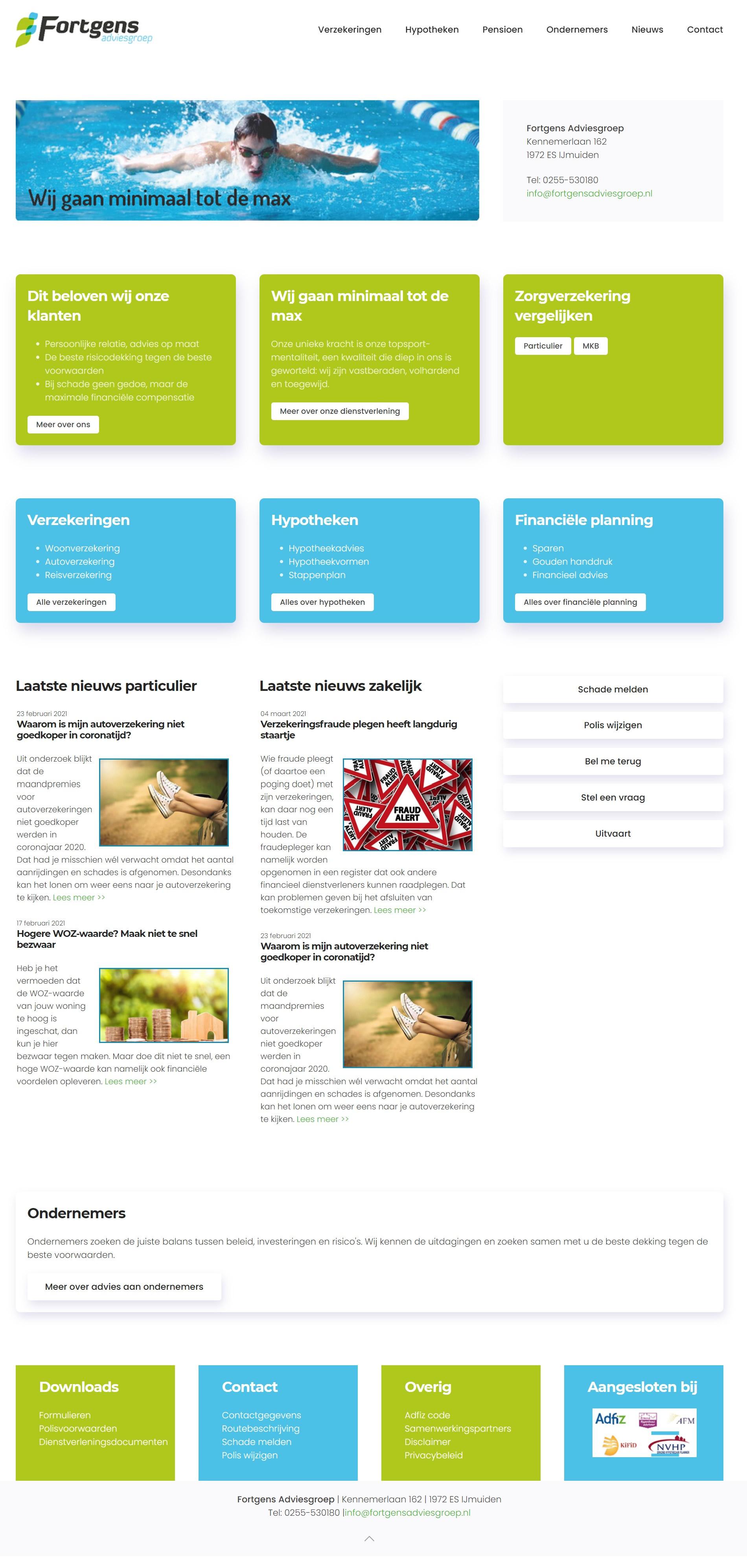 Website Fortgens Adviesgroep